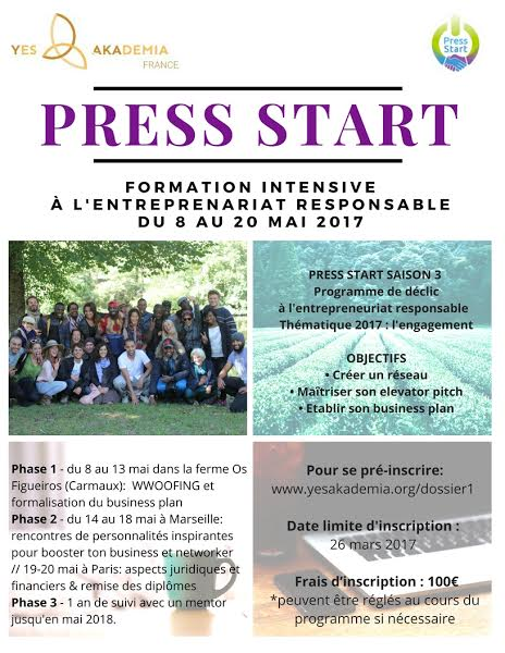 Press Start flyer mis à jour